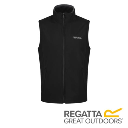 Regatta Men's Bradwell II Wind Resistant Stretch Softshell Gilet – Iron / Black
