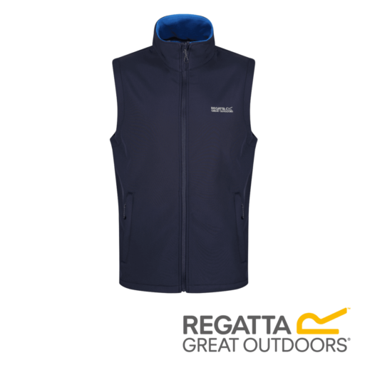 Regatta Men's Bradwell II Wind Resistant Stretch Softshell Gilet – Navy / Oxford Blue