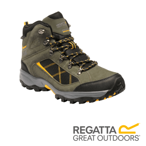 Regatta Men's Clydebank Walking Boots – Dark Khaki / Gold