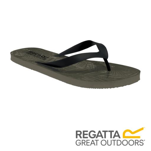 Regatta Men's Bali Flip Flops – Dark Khaki / Black