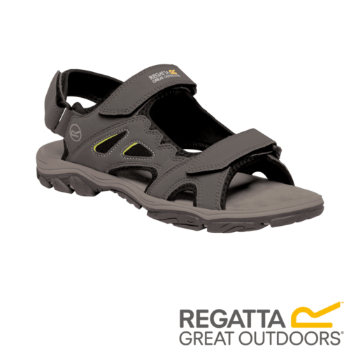 Regatta Men's Holcombe Vent Sandals  – Briar / Lime Punch