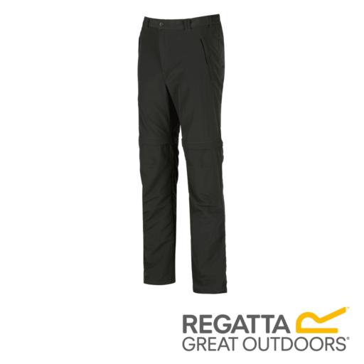 Regatta Men's Leesville Multi Pocket Zip Off Trousers – Long – Hawthorn