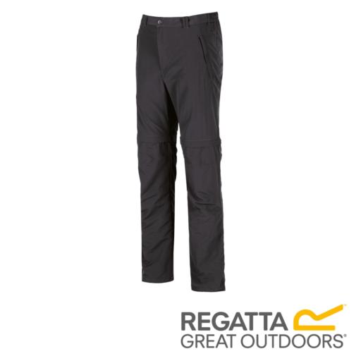 Regatta Men's Leesville Multi Pocket Zip Off Trousers – Long – Ash