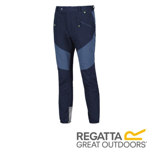 Regatta Men's Mountain Active Stretch Trousers – Regular – Navy / Dark Denim