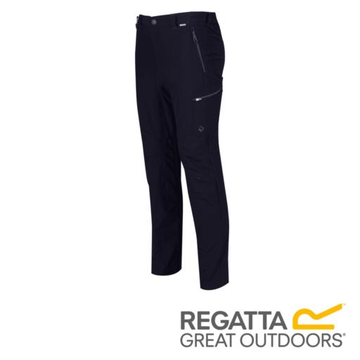 Regatta Men's Highton Multi Pocket Walking Trousers – Long – Navy