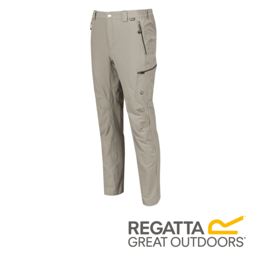 Regatta Men's Highton Multi Pocket Walking Trousers – Long – Parchment