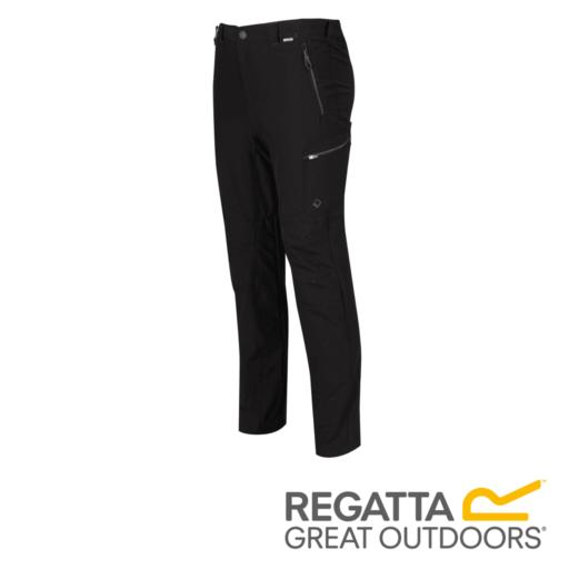 Regatta Men's Highton Multi Pocket Walking Trousers – Long – Black