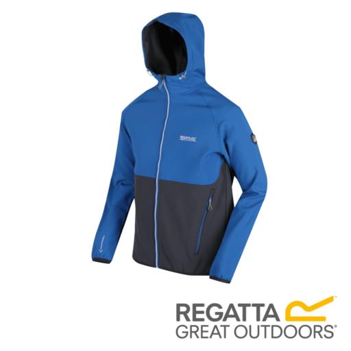 Regatta Men's Arec II Hooded Softshell Jacket – Oxford Blue / Seal Grey