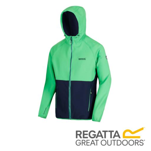 Regatta Men's Arec II Hooded Softshell Jacket – Fairway Green / Navy