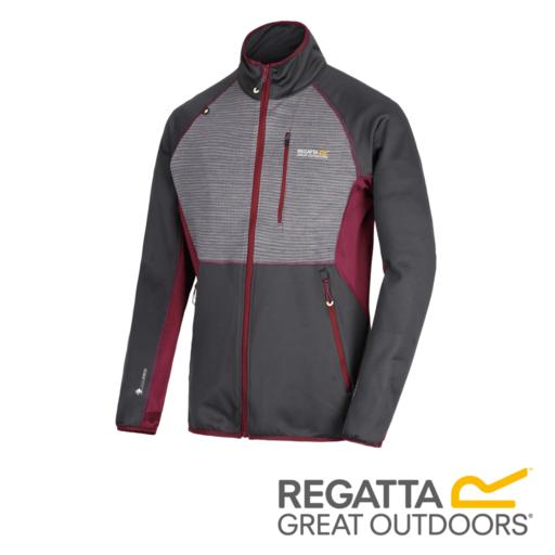 Regatta Men's Yare Knitted Stretch Softshell Jacket – Seal Grey