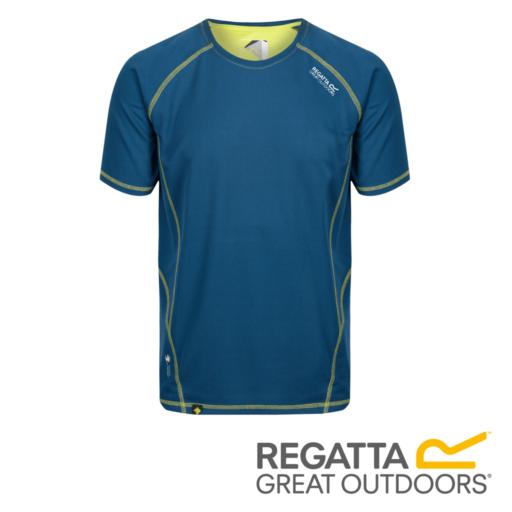 Regatta Men's Virda II Active T-Shirt – Lime Punch / Majolica Blue