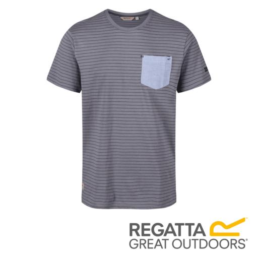 Regatta Men's Teagan Coolweave Striped T-Shirt