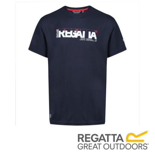 Regatta Men's Tancredo II Navigator Print T-Shirt – Navy