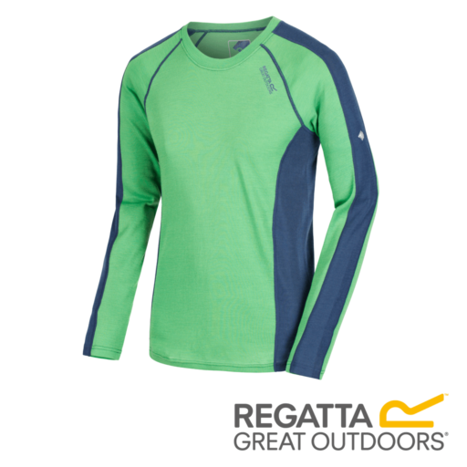 Regatta Men's Beru Overhead Base Layer Top – Fairway / Dark Denim