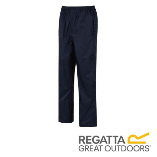 Regatta Men's Pack It Breathable Waterproof Overtrousers – Navy