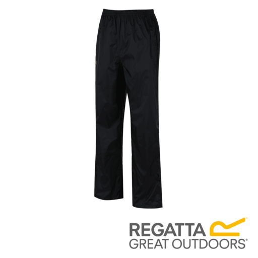 Regatta Men's Pack It Breathable Waterproof Overtrousers – Black