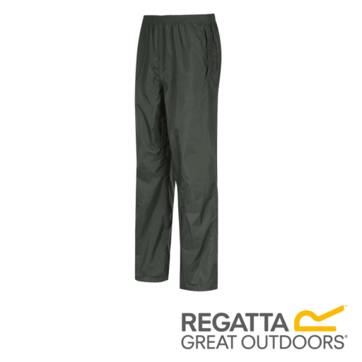 Regatta Men's Pack It Breathable Waterproof Overtrousers – Bayleaf