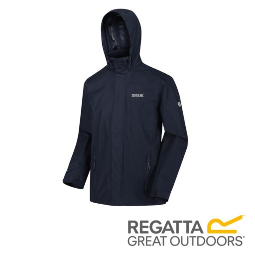Regatta Men's Matt Lightweight Waterproof Jacket – Navy