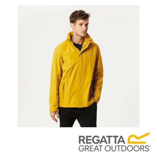 Regatta Men's Matt Lightweight Waterproof Jacket – Mustard Seed