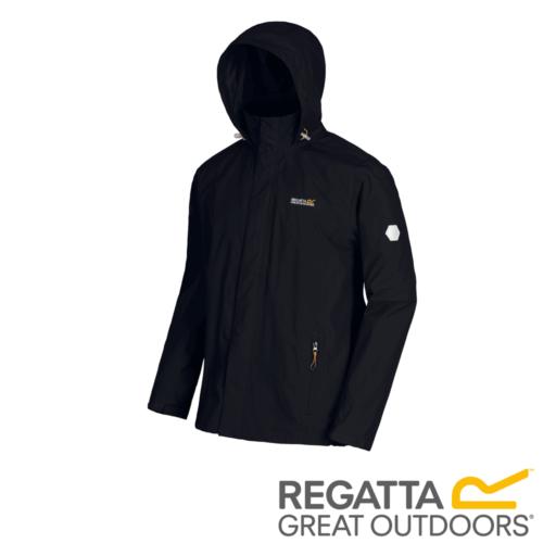 Regatta Men's Matt Lightweight Waterproof Jacket – Black