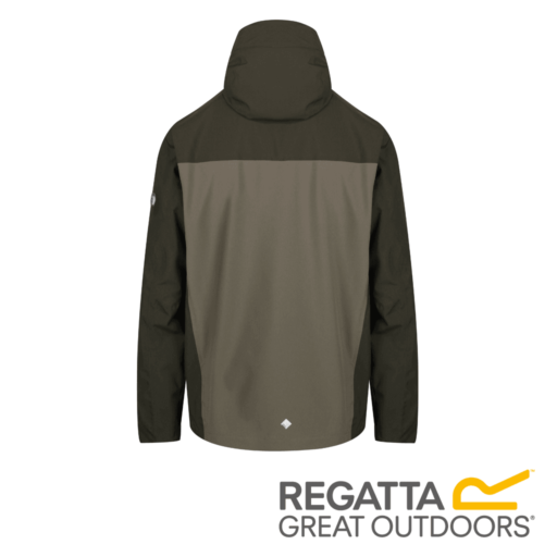 Regatta Men's Birchdale Waterproof Hooded Jacket – Bayleaf / Grape Leaf