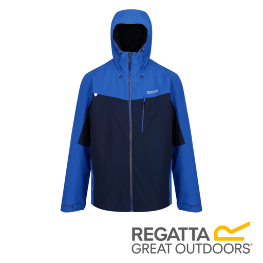 Regatta Men's Birchdale Waterproof Hooded Jacket – Surf Spray / Navy