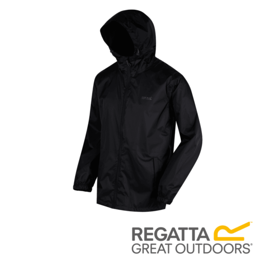 Regatta Men's Pack It Jacket III Waterproof Packaway – Black