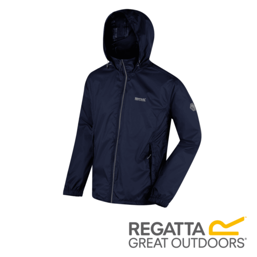 Regatta Men's Lyle IV Lightweight Waterproof Jacket – Navy