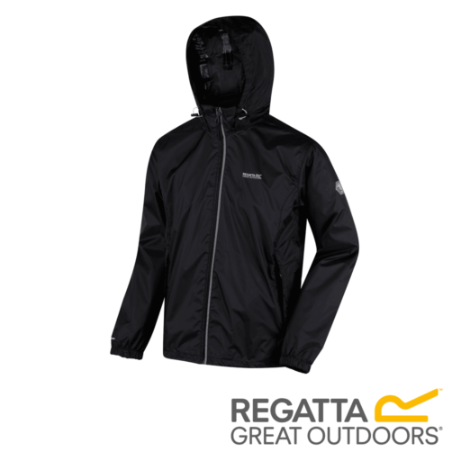 Regatta Men's Lyle IV Lightweight Waterproof Jacket – Black