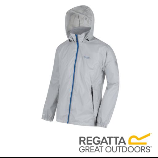 Regatta Men's Lyle IV Lightweight Waterproof Jacket – Light Steel