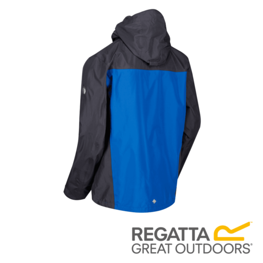 Regatta Men's Holtridge Waterproof Shell Jacket – Seal Grey / Oxford Blue