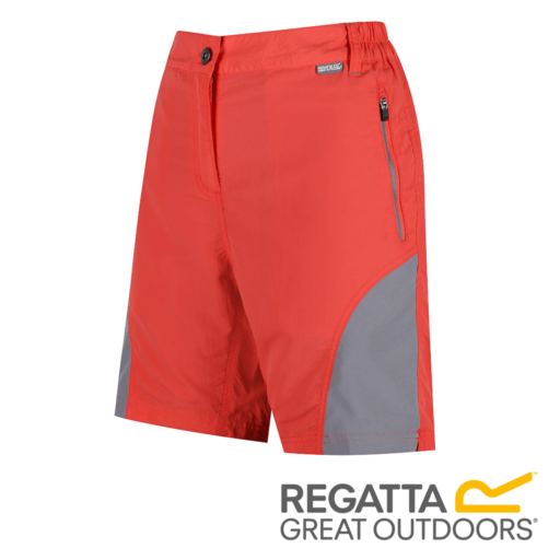 Regatta Women's Sungari Walking Shorts – Neon Peach / Rock Grey