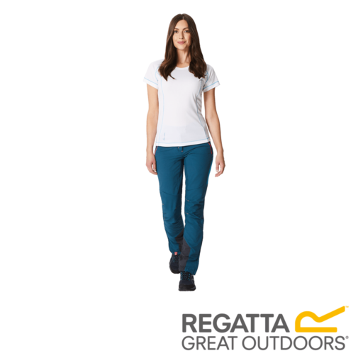 Regatta Women's Mountain Stretch Walking Trousers – Short – Moroccan Blue / Blue Reef