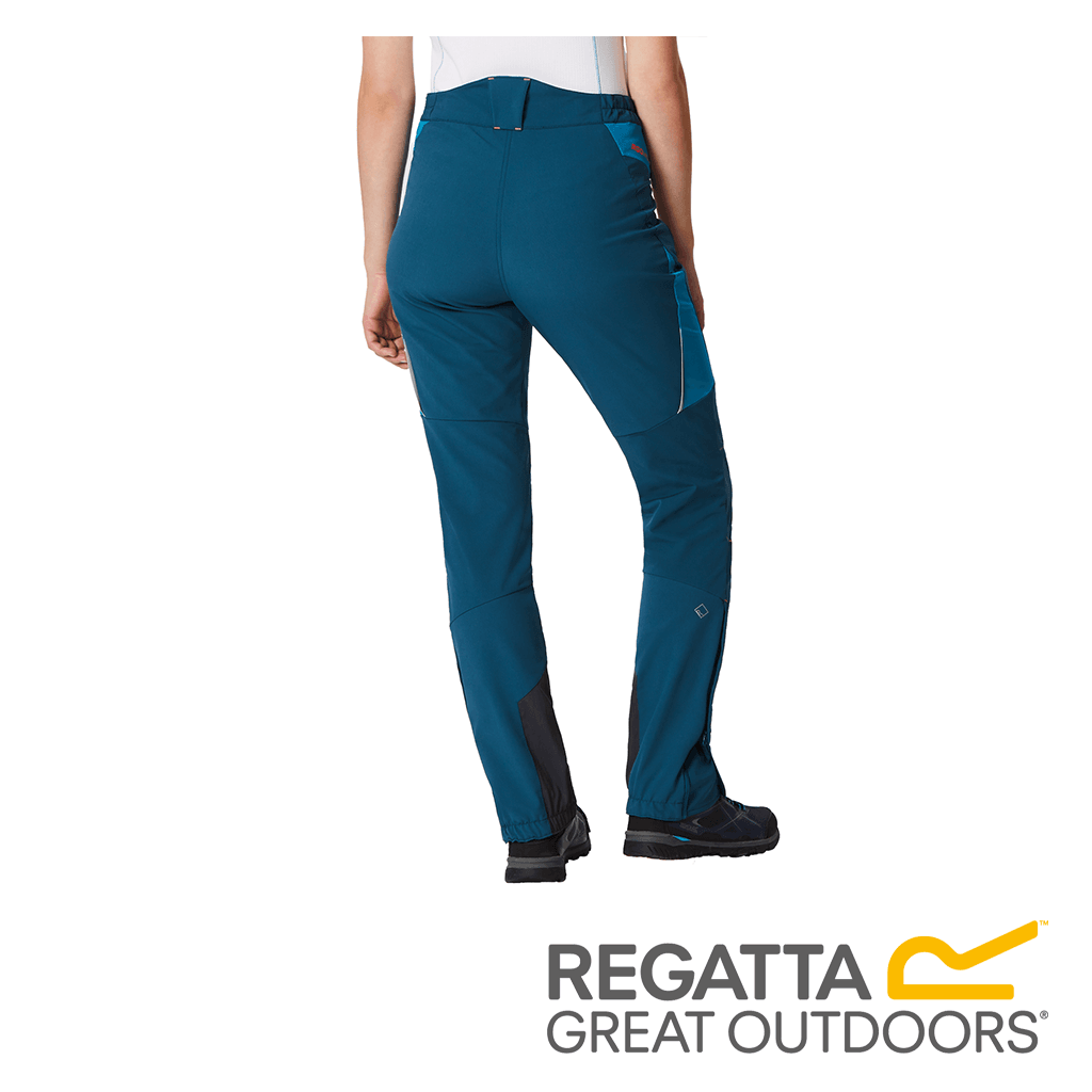 Regatta Women/'s Mountain Stretch Walking Trousers Blue