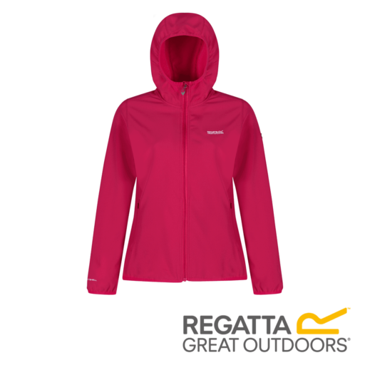 Regatta Women's Arec Stretch Hooded Softshell Jacket – Dark Cerise / Duchess