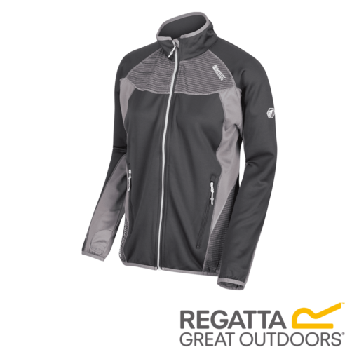 Regatta Women's Yare Knitted Stretch Softshell Jacket – Seal Grey / Rock Grey