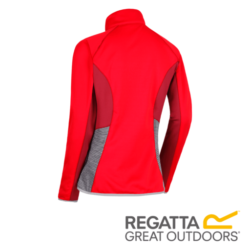Regatta Women's Yare Knitted Stretch Softshell Jacket – Red Alert / Seal Grey