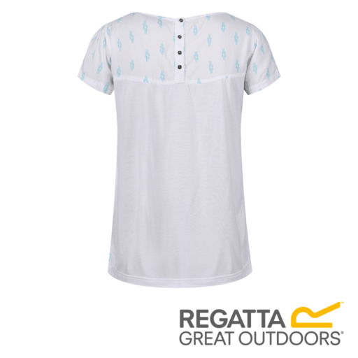 Regatta Women's Abalina Printed Top – White Reef Knot Print