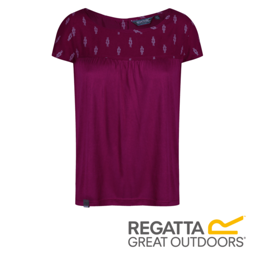 Regatta Women's Abalina Printed Top – Beaujolais Reef Knot Print