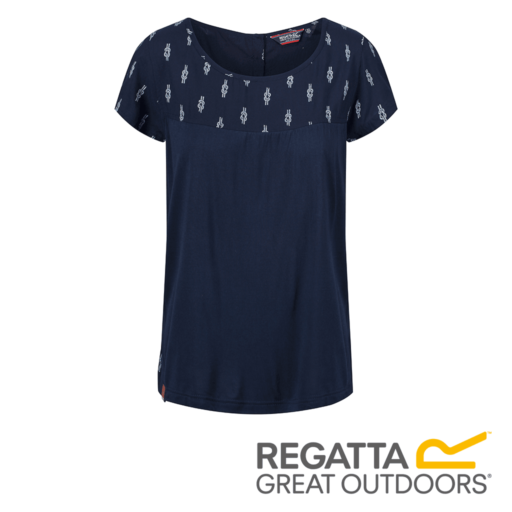 Regatta Women's Abalina Printed Top – Navy Reef Knot Print
