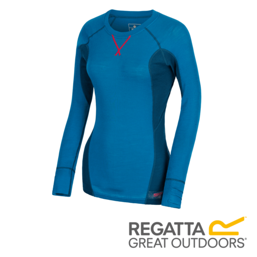 Regatta Women's Beru Overhead Base Layer Top – Blue Reef / Moroccan Blue