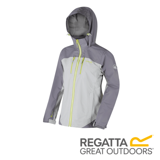 Regatta Women's Calderdale II Waterproof Shell Jacket – Light Steel / Rock Grey