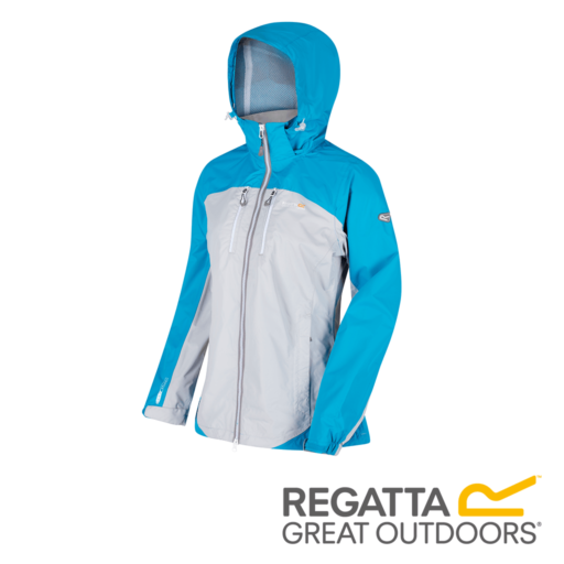 Regatta Women's Calderdale II Waterproof Shell Jacket – Fluro Blue / Light Steel