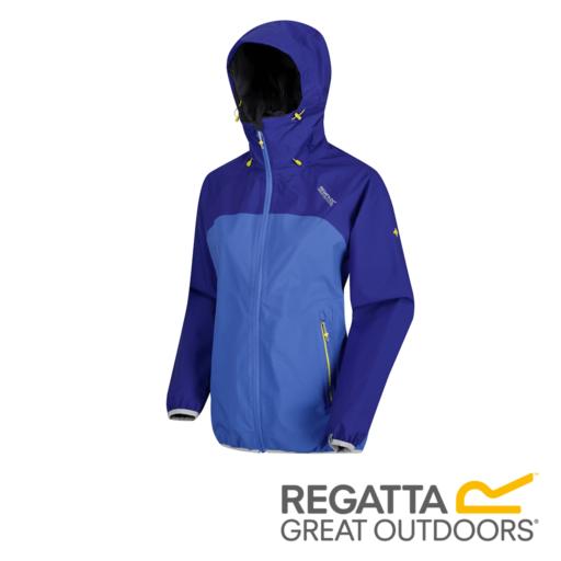 Regatta Women's Imber II Lightweight Hooded Waterproof Jacket – Clematis / Blueberry Pie