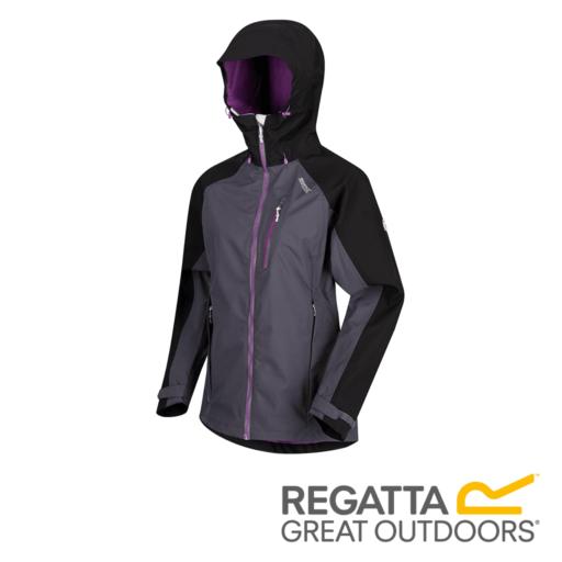 Regatta Women's Birchdale Waterproof Hooded Jacket – Seal Grey / Black