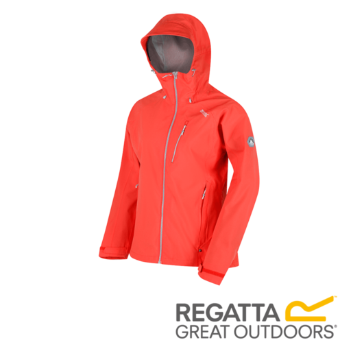 Regatta Women's Birchdale Waterproof Hooded Jacket – Bright Blush / Neon Peach