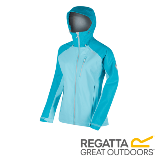Regatta Women's Birchdale Waterproof Hooded Jacket – Horizon / Aqua