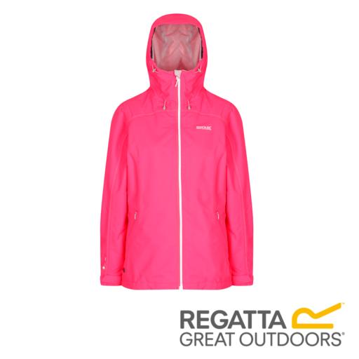 Regatta Women's Hamara II Lightweight Hooded Waterproof Jacket – Neon Pink