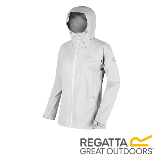 Regatta Women's Hamara II Lightweight Hooded Waterproof Jacket – White