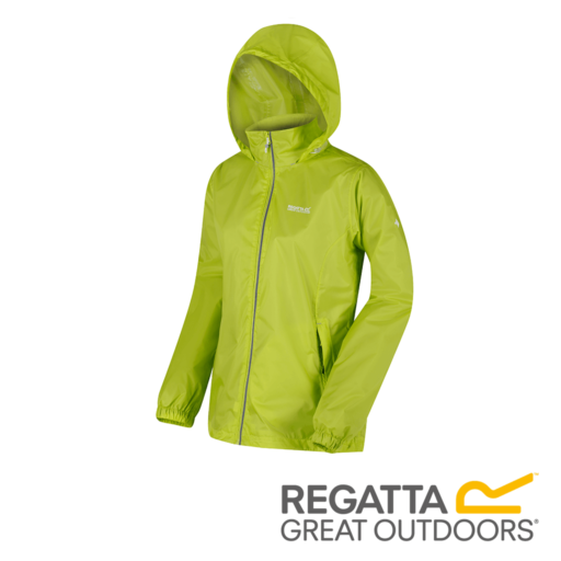Regatta Women's Corinne IV Lightweight Hooded Waterproof Jacket – Lime Zest